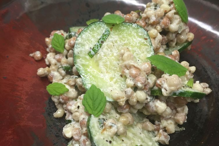 Okra Seed Couscous Salad