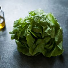 Butter Lettuce Salad with Olives and Citrus Dressing