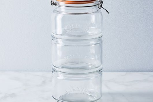 Glass Stackable Storage Jar