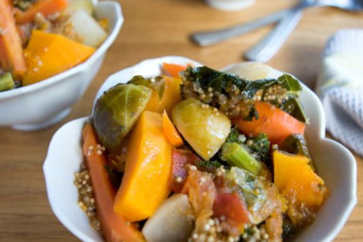 Winter Vegetables Ragout with Kale and Quinoa