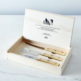 White-Handled Italian Cheese Knives (Set of 3)