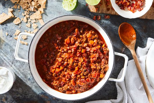 Beef Chili With Bacon & Beans