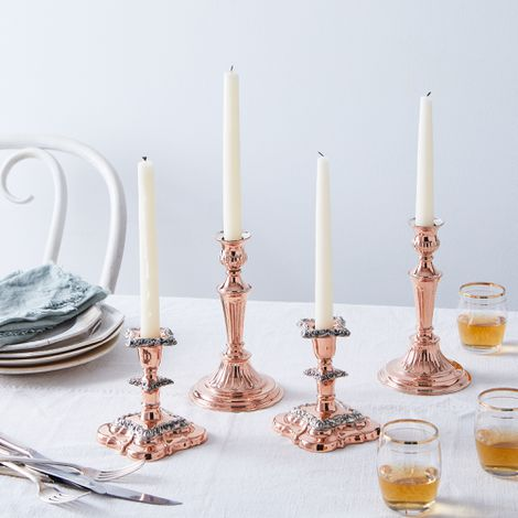 Vintage Copper Candlesticks (Set of 2)