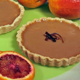 Blood Orange and Maple Custard Tart (Vegan, Gluten Free)