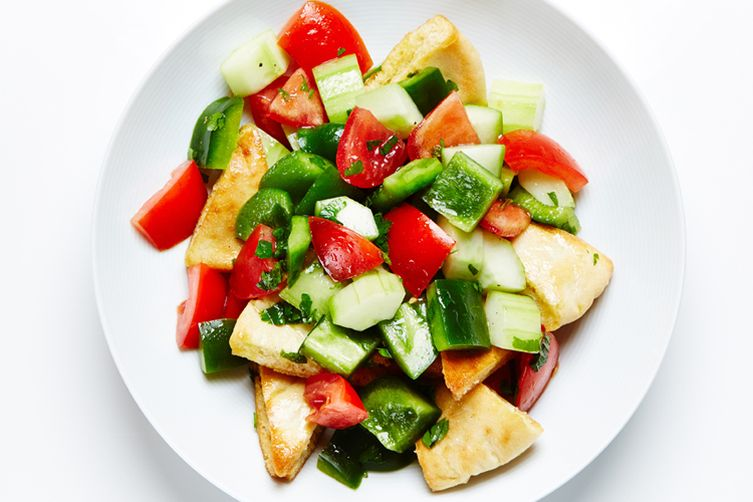 Tomato, Cucumber and Pita Salad