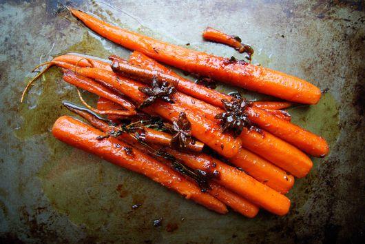Honey-Glazed Carrots with Cinnamon and Star Anise