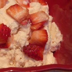 Luscious Honey Mascarpone Strawberry Ice Cream