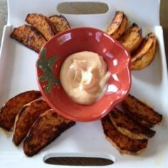 Cajun Roasted Turnip Wedges with Light Spicy Mayo
