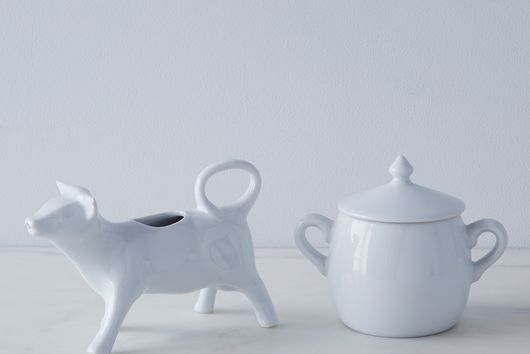 Cow Creamer and Sugar Bowl Set