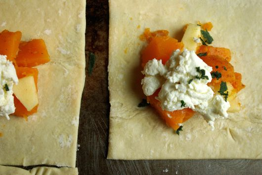 Maple Butternut Squash and Apple Turnovers with Ricotta and Fried Sage