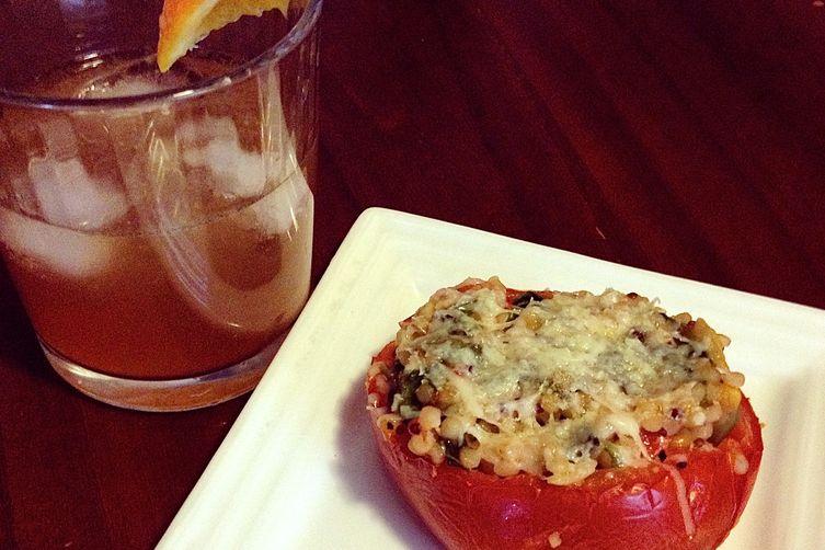 Faux Risotto in a Tomato cup