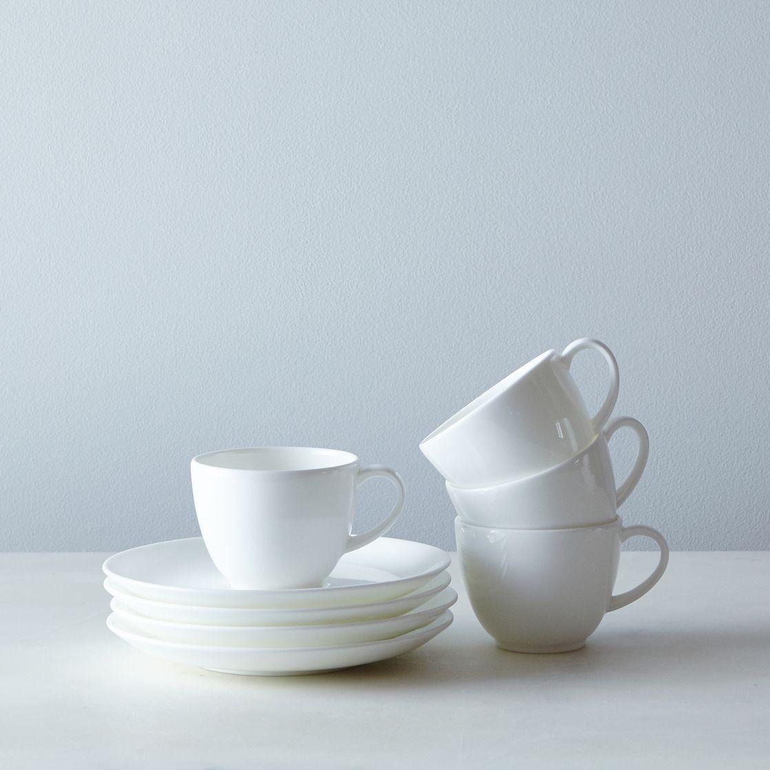 purio white espresso cup  saucer (set of )  whiteware  coffee  - purio white espresso cup  saucer (set of