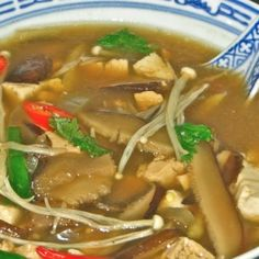 ASSORTED MUSHROOMS-TOFU with TAMARIND BROTH