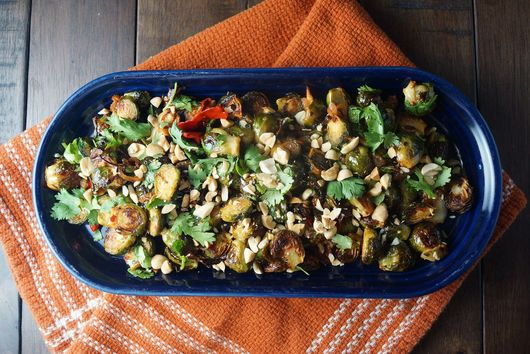 Sambal Roasted Brussel Sprouts with Fish Sauce Vinaigrette
