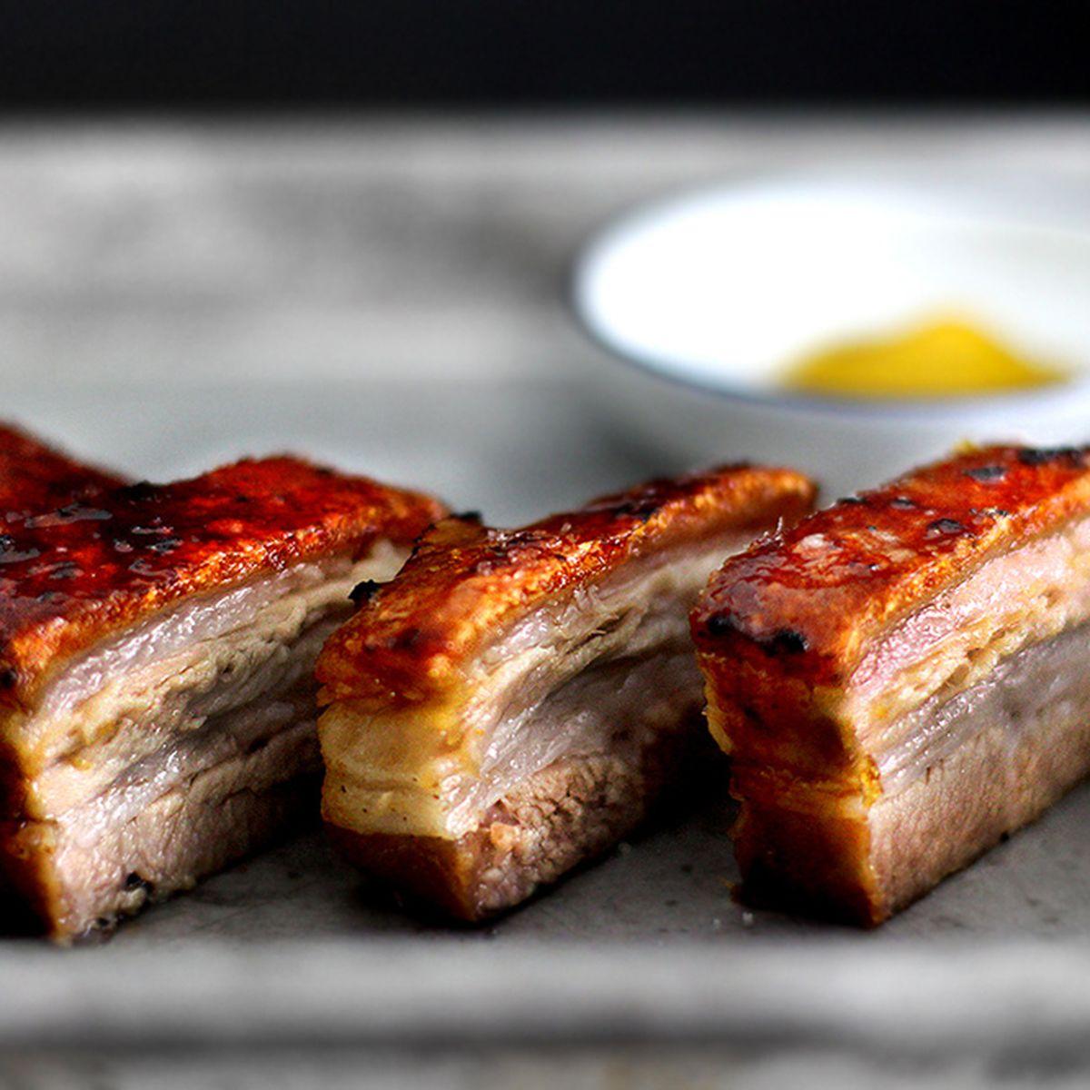 creme brulee pork belly confit
