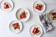 Watermelon with Preserved Lemon Vinaigrette