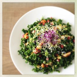 Epic Quinoa Kale Salad with Orange Miso Dressing & Teriyaki Cashews