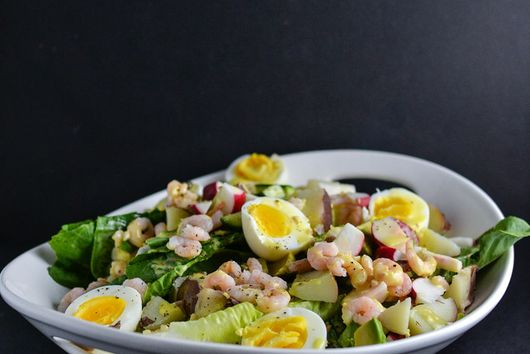 Everything + Shrimp Summer Salad