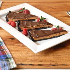 Dulce de leche chocolate tart