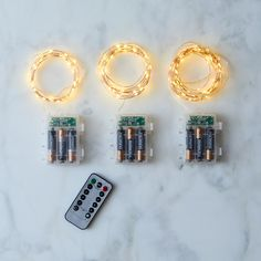 Remote 8-Settings Dew Drop Wired LED Lights (Set of 3)