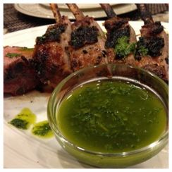 Dijon Rack of Lamb on The BGE with Mint Sauce
