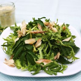 Smoked Trout Salad with Apples, Fennel and Creamy Horseradish Dressing