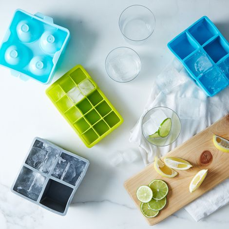 Square and Spherical Ice Tray Sets