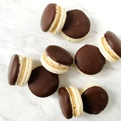 Chocolate Covered Peanut Butter Cheesecake Macaron Filling