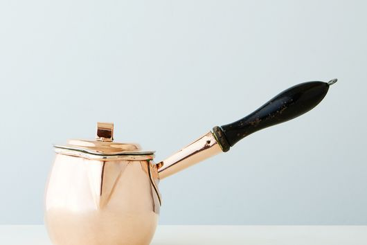 Vintage Copper English Chocolate Pot, Late 19th Century