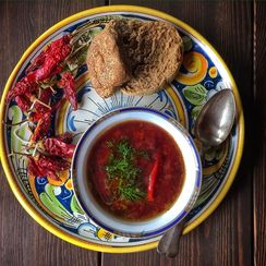 Turkish Style Red Lentil Soup with Purple Carrots