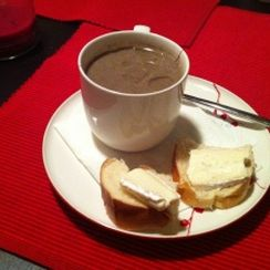 Mushroom Soup with Sherry and Truffle Oil