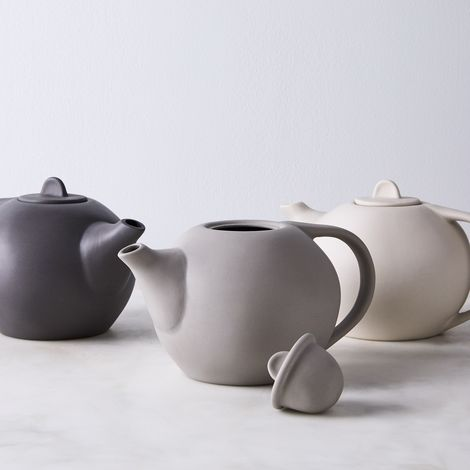 Round Ceramic Teapot