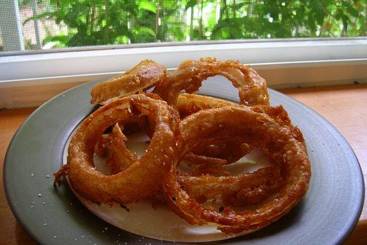 Beer-Battered Mesquite Onion Rings