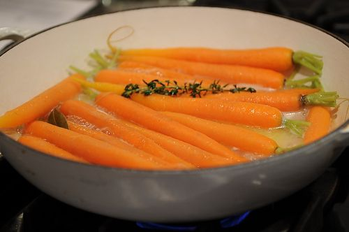 Glazed Carrots with Braised Bibb Lettuce