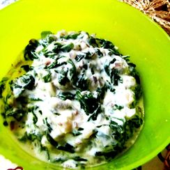 Curried Spinach and Yogurt Salad with Fresh Black Pepper.