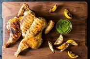 Chicken al Mattone with Thyme Pesto