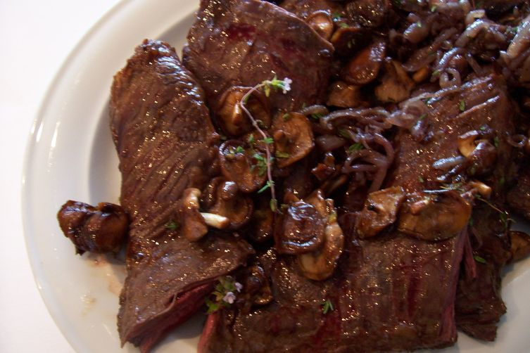 Soy Marinated Skirt Steak with Stir-Fried Wild Mushrooms