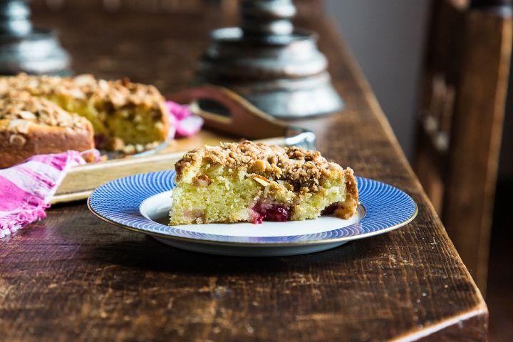 Cherry Almond Crumb Cake