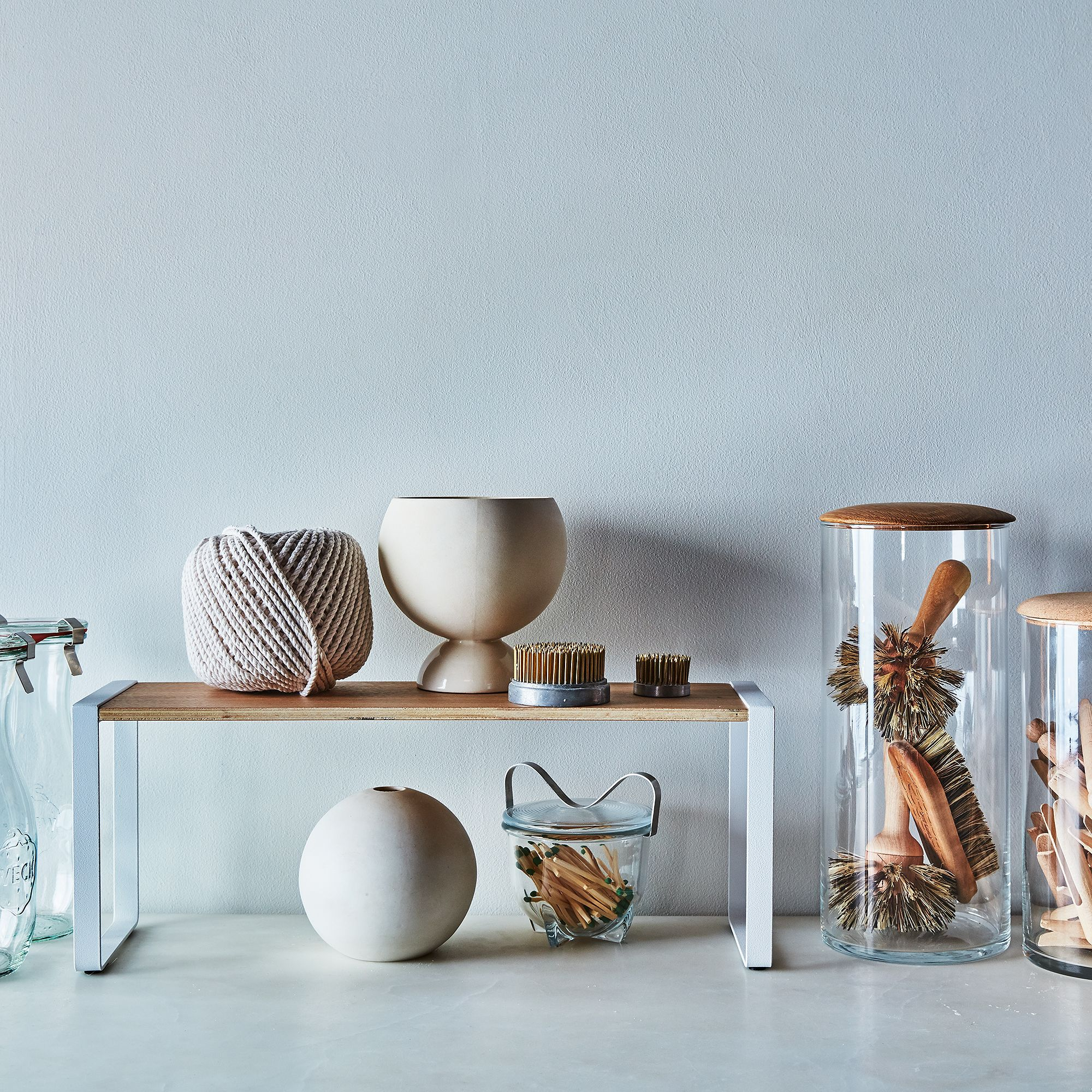 Steel & Wood Kitchen Storage Rack on Food52