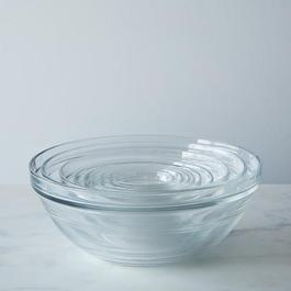 9-Piece Set Duralex Tempered Glass Mixing Bowls