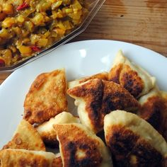 Samosas with Loquat-Onion Chutney