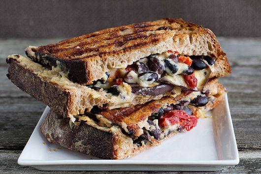 Eggplant Hummus Vegan Panini