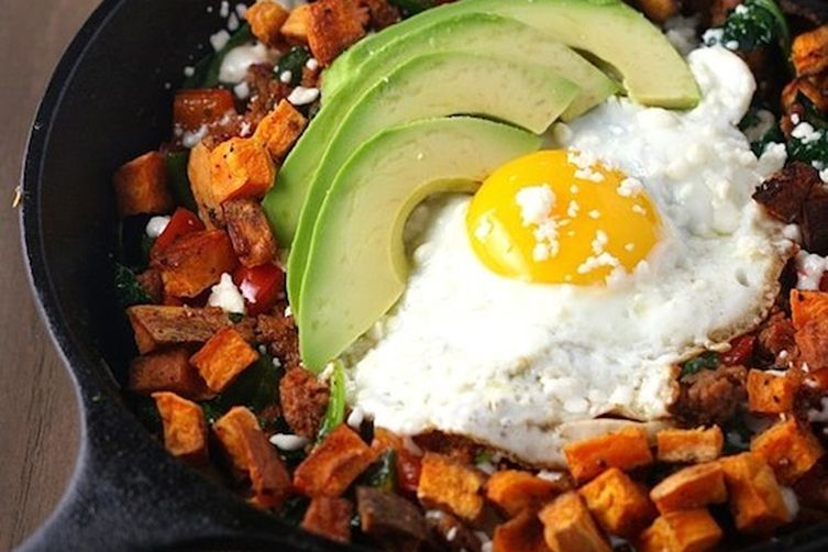 Mexican Chorizo and Sweet Potato Hash