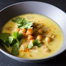 Heidi Swanson's Chickpea Stew with Saffron, Yogurt, and Garlic