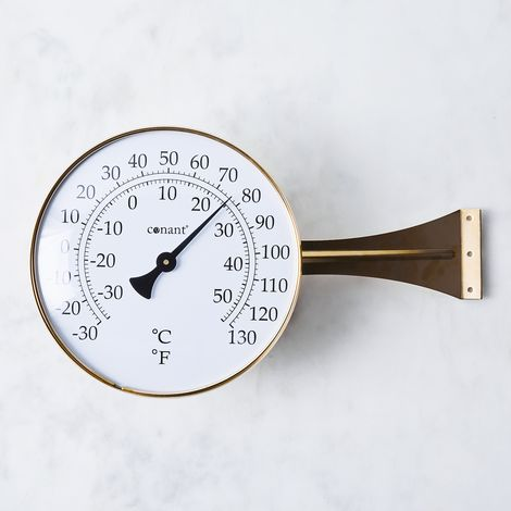 Brass Large Dial Thermometer
