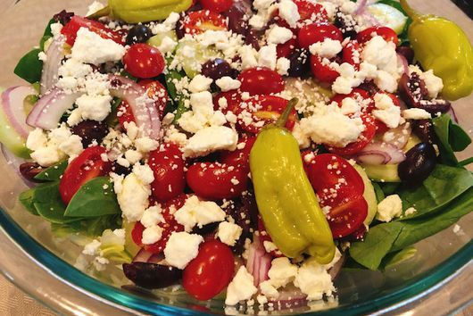 Greek Salad With Homemade Dressing