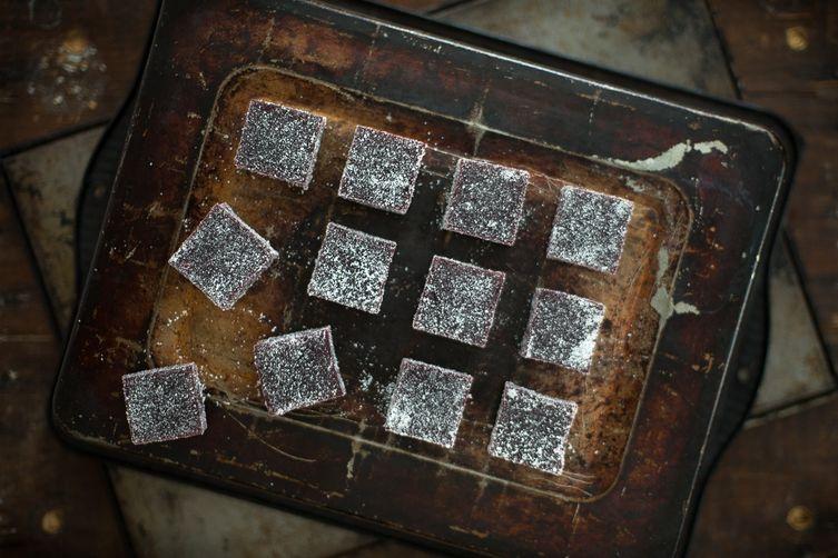 Blackberry Basil Pates de Fruits