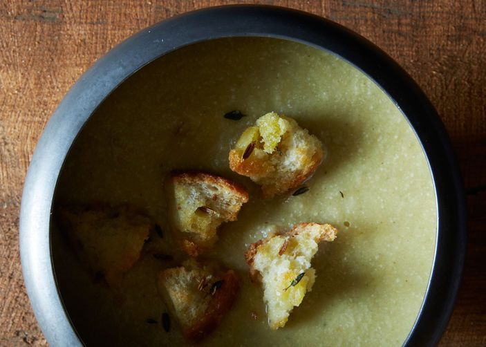 Thyme-Scented Fennel and Leek Soup form Food52