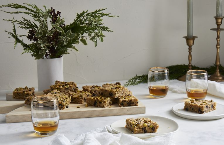 The Whisky & Fig Blondies We're Making All Fall Long