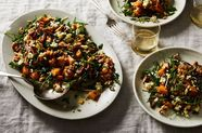 Sautéed Dates with Roasted Butternut Squash, Wheatberries and Blue Cheese